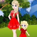 Elsa and Daughter Matching Dress